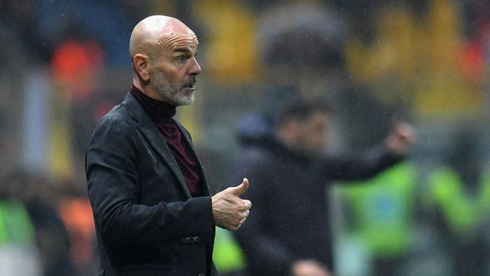 Stefano Pioli senang timnya bisa tampil bagus melawan Bologna. Foto: Alessandro Sabattini/Getty Images