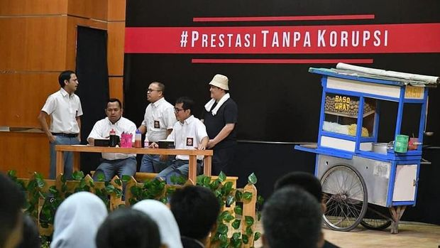 Aksi drama tiga menteri rayakan Hari Anti Korupsi
