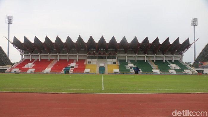 Stadion Harapan Bangsa masih untuk perbaikan di menjadi kandang Persiraja Banda Aceh. (Foto: Agus Setyadi/detikcom)