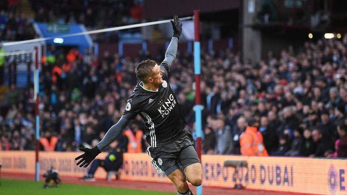 Jamie Vardy terus mencetak gol dalam delapan laga terakhir di Liga Inggris (Michael Regan/Getty Images)
