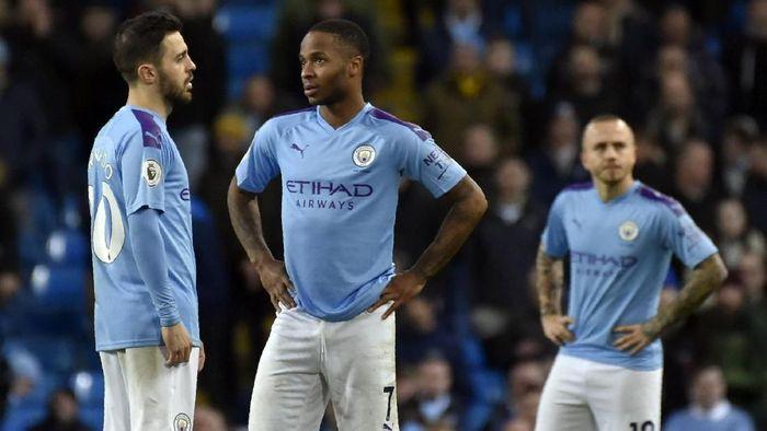 Manchester City menelan kekalahan dari Manchester United di Liga Inggris akhir pekan lalu. (Foto: AP Photo/Rui Vieira)