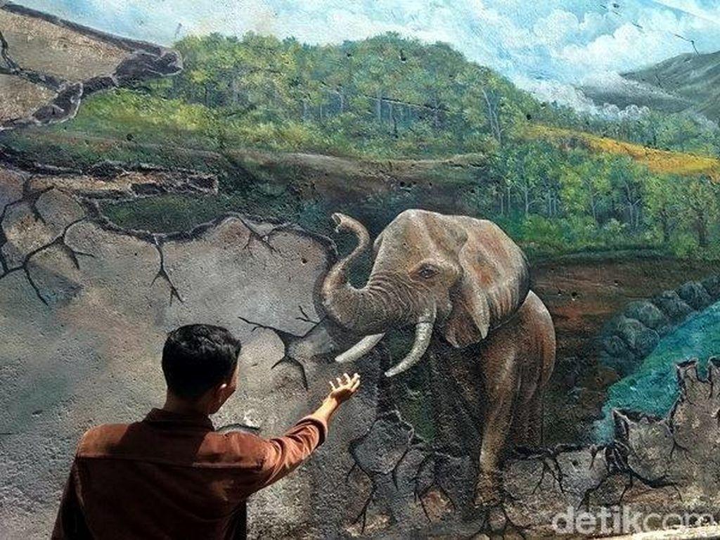 Foto: Lukisan 3D Keren ala Gang di Magelang