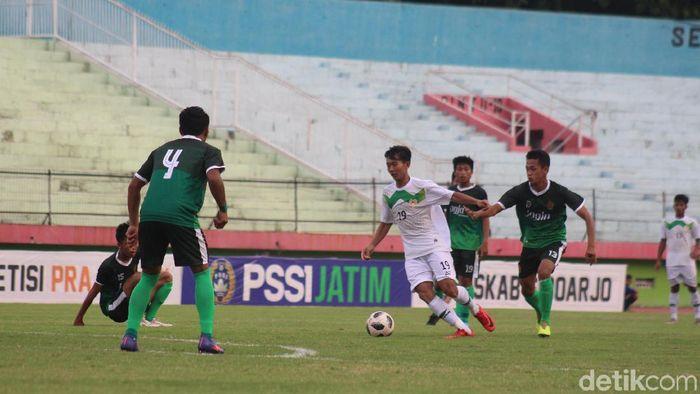 Tim Pra Pon Jawa Timur menang 3-0 atas Tim DIY di Kualifikasi Pra Pon 2020. (Foto: Suparno/detikSport)
