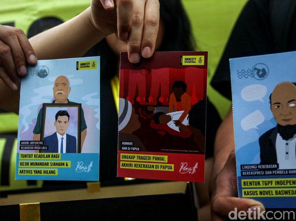 5.000 Kartu Pos Suarakan Aspirasi HAM di Indonesia