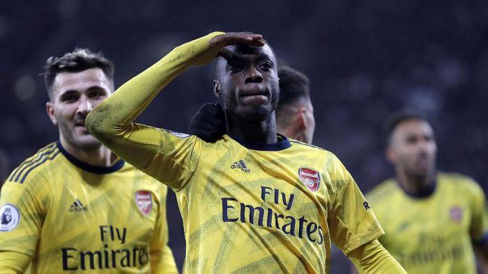 Nicolas Pepe diakui butuh waktu beradaptasi agar bisa tampil ganas di Liga Inggris (Foto: AP Photo/Kirsty Wigglesworth)