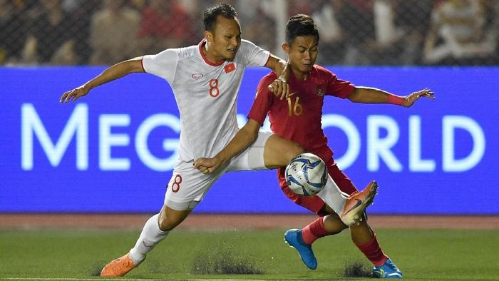 Indonesia kembali gagal dapat emas sepakbola SEA Games setelah digasak Vietnam 0-3 (ANTARA FOTO/Sigid Kurniawan/pras.)