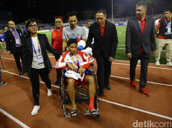 Evan Dimas Darmono sudah memaafkan Doan Van Hau. (Foto: Grandyos Zafna/detikcom)
