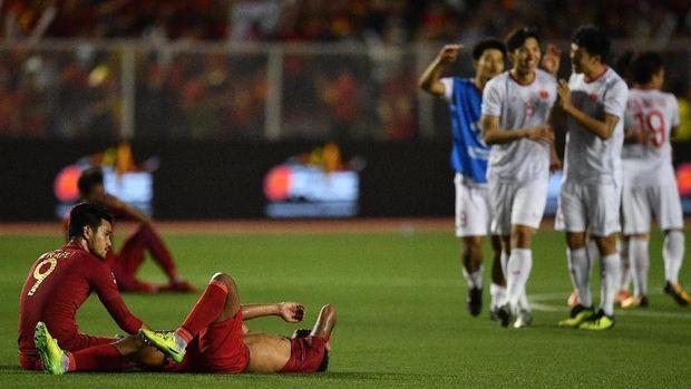 Timnas Indonesia kalah 0-3 dari Vietnam. (