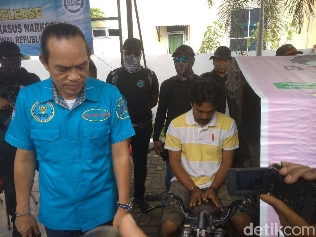 Bandar Narkoba yang Digerebek BNN di Medan Jualan Sabu Pakai Betor