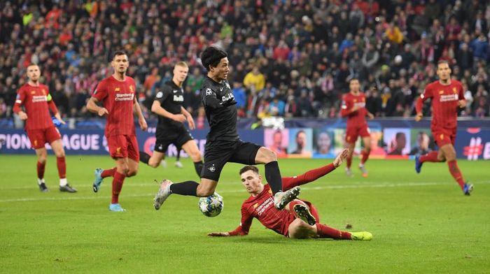 Red Bull Salzburg menghadapi Liverpool berakhir 0-0 di babak pertama (Foto: Michael Regan/Getty Images)