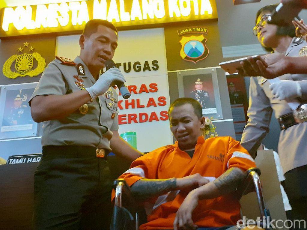 Otak Pelarian Tahanan Polresta Malang Kota Kabur karena Kangen Anak