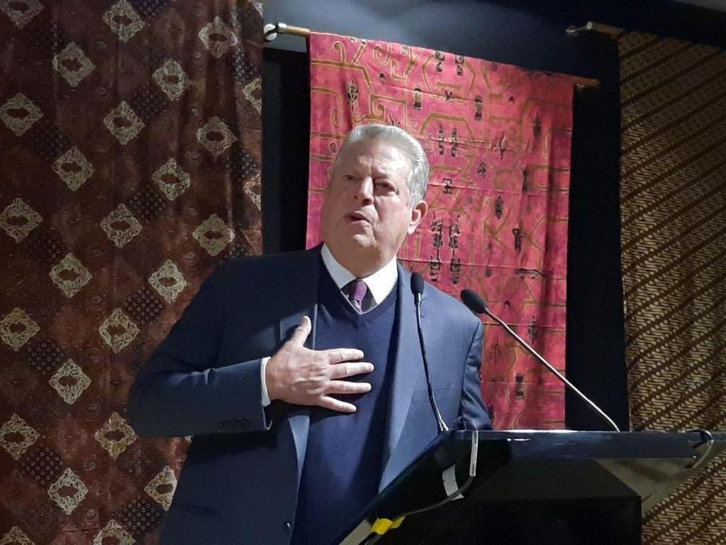 Eks Wapres AS Al Gore Bicara Kenaikan Air Laut dan Dampak Bagi RI