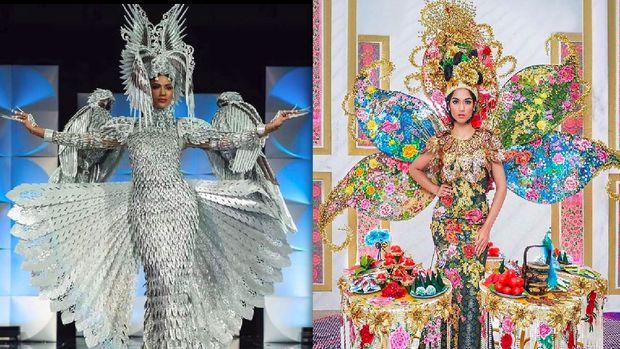 Miss Filipina Gazini Ganados dan Miss Malaysia Shweta Sekhon