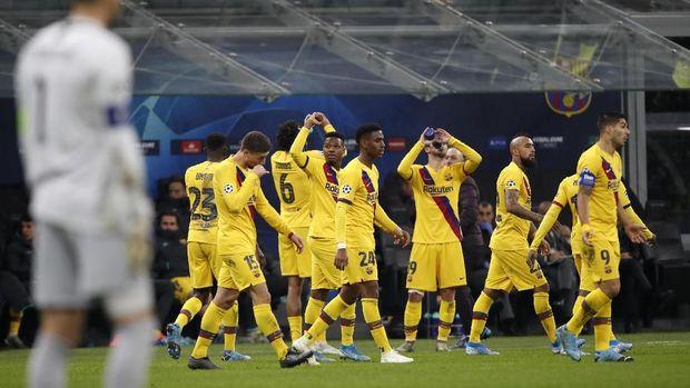 Ilustrasi Barcelona di Liga Champions. (