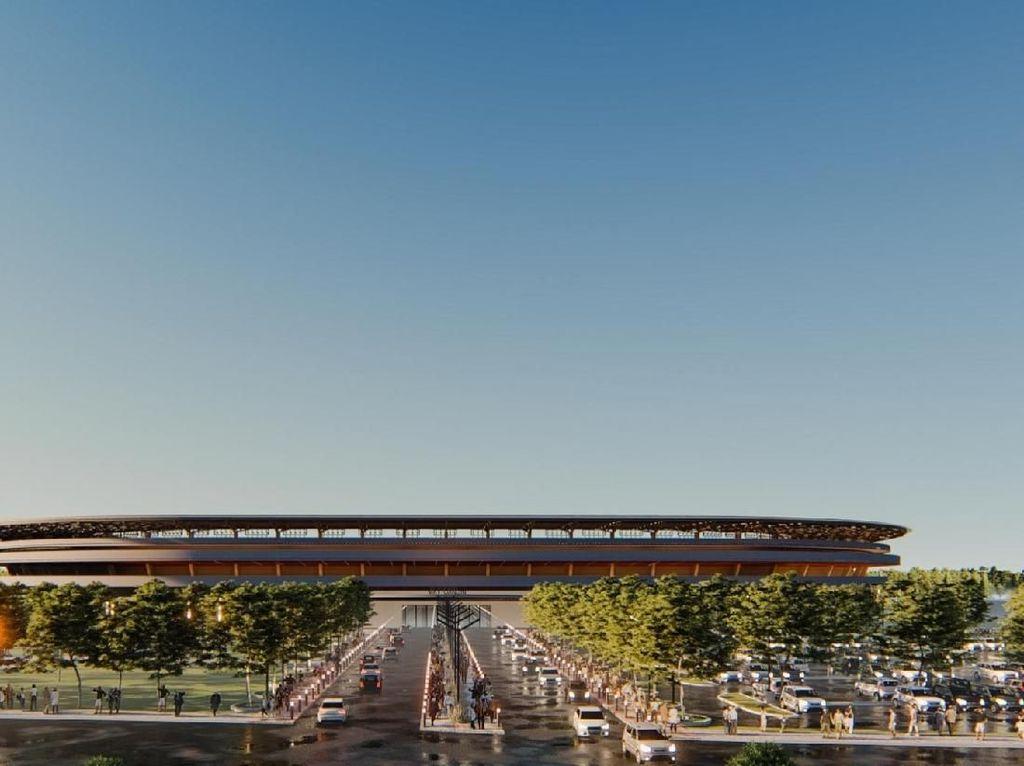 Desain Baru Stadion Mattoanging Terinspirasi Kapal Pinisi-Tenun Bugis