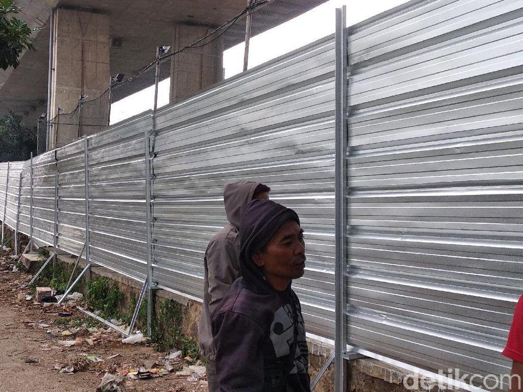 Usai Penggusuran, Area Lahan Rumah Deret Tamansari Bandung Dipagari