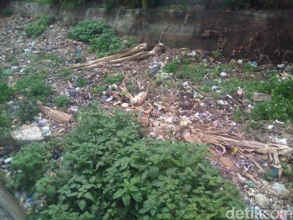 Jorok! Sungai Temulus Kudus Dipenuhi Sampah Plastik-Popok Bekas