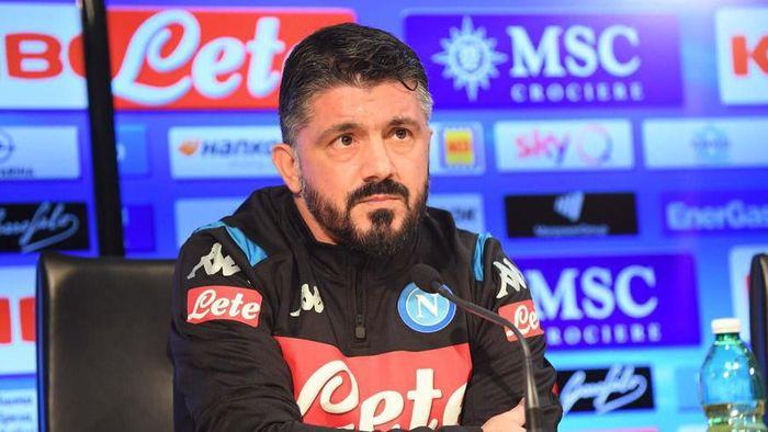 Gennaro Gattuso menargetkan Napoli bisa tembus empat besar Liga Italia musim ini (Foto: Twitter @sscnapoli)