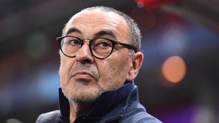 Maurizio Sarri berharap Juventus bisa bertemu tim asuhan Jose Mourinho, Tottenham Hotspur (Foto: Photo by Kirill KUDRYAVTSEV / AFP)
