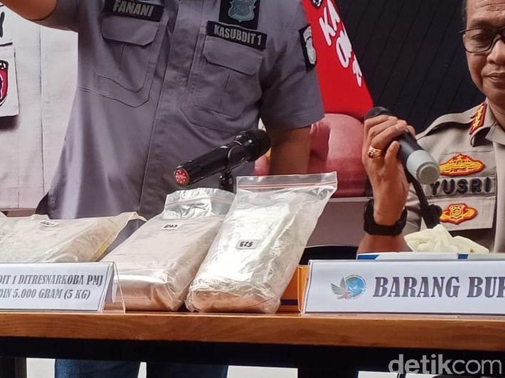 Polisi Duga 5 Kg Heroin dari WN Pakistan Akan Diedarkan Saat Tahun Baru