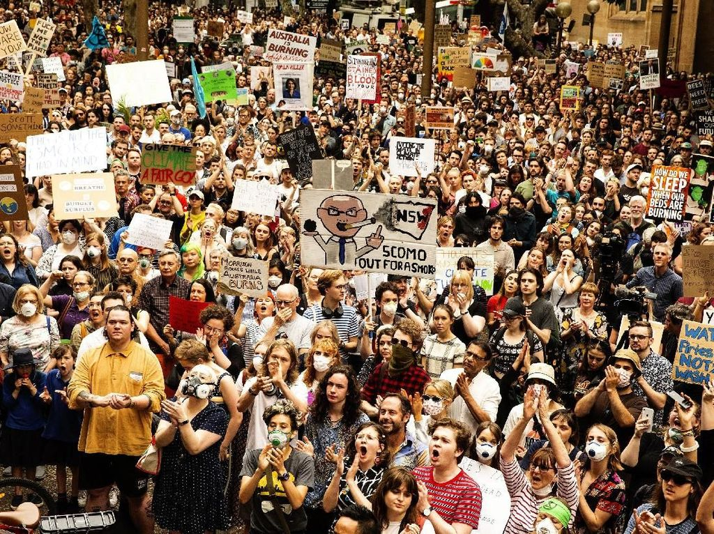 Melihat Lagi Aksi Ribuan Warga Sydney Demo Terkait Krisis Iklim