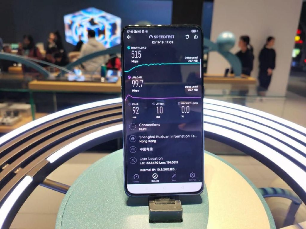 Uji Coba mmWave 5G Oppo dan Ericsson Tembus 4,06 Gbps