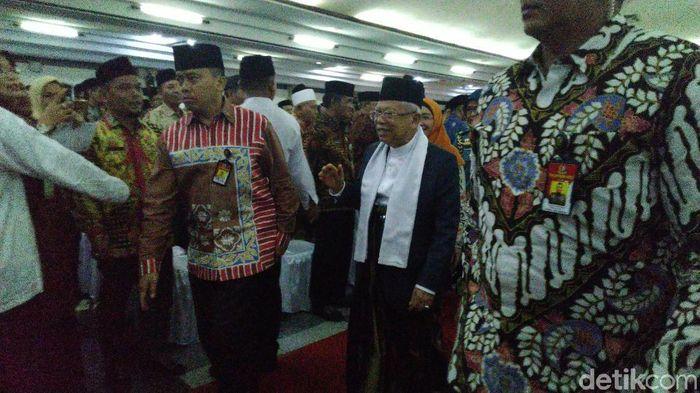 Wapres Maruf Amin di Semarang/Foto: Angling Adhitya Purbaya/detikcom