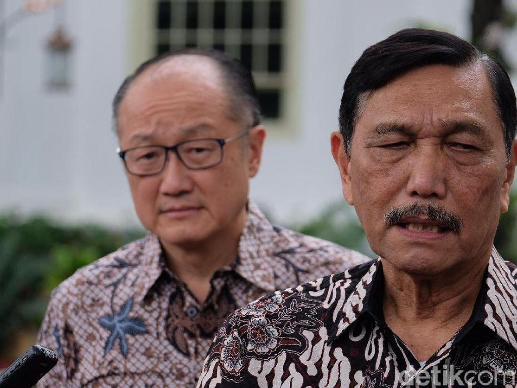Bahas Investasi, Luhut Ajak Eks Bos Bank Dunia Bertemu Jokowi