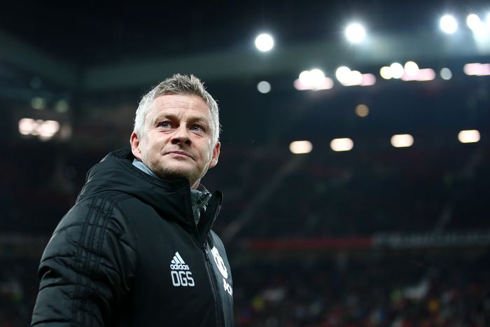 MANCHESTER, ENGLAND - DECEMBER 12: Ole Gunnar Solskjaer, Manager of Manchester United looks on prior to the UEFA Europa League group L match between Manchester United and AZ Alkmaar at Old Trafford on December 12, 2019 in Manchester, United Kingdom. (Photo by Clive Brunskill/Getty Images)