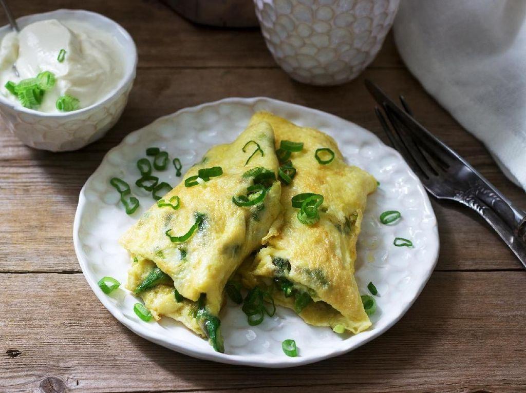 Biar Sarapan Makin Seru, Bikin Omelet Prancis yang Lembut Ini