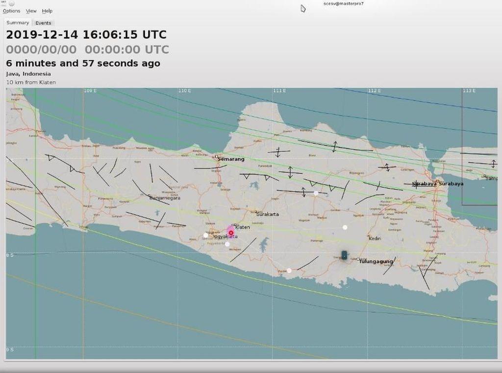 Gempa Darat M 2,5 Terjadi di Klaten
