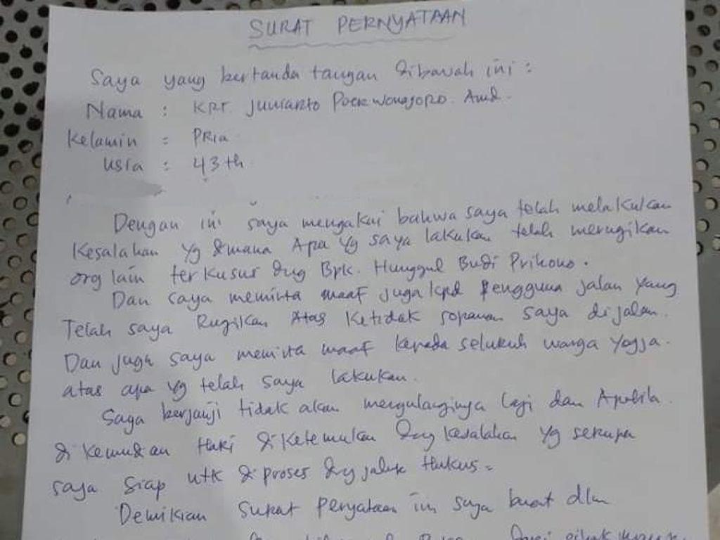Ngaku Salah dan Minta Maaf, Ini Isi Surat Pemobil Mewah Ugal-ugalan