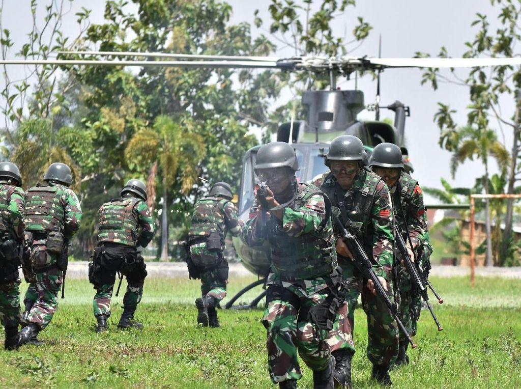 Latihan Kemampuan Prajurit Para Raider