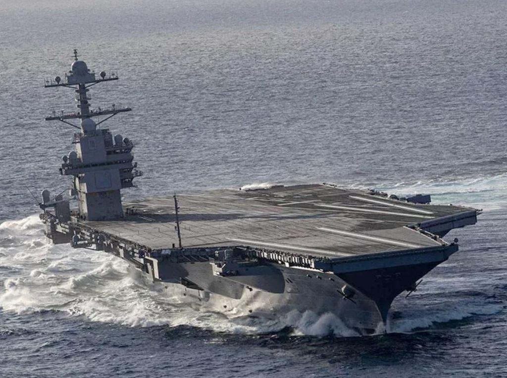 Dua Kapal Induk AS Gelar Latihan Bersama di Laut China Selatan