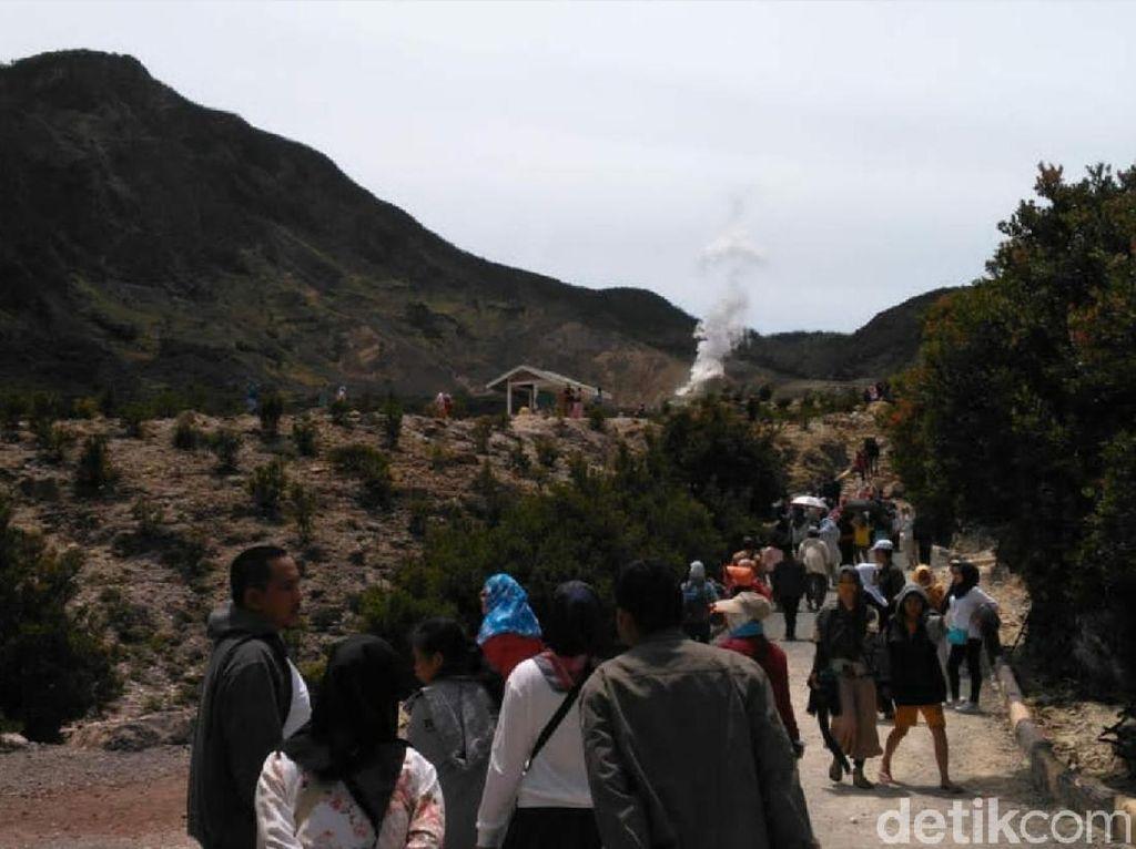Jelang Libur Nataru, Gunung Papandayan Bersiap Sambut Wisatawan