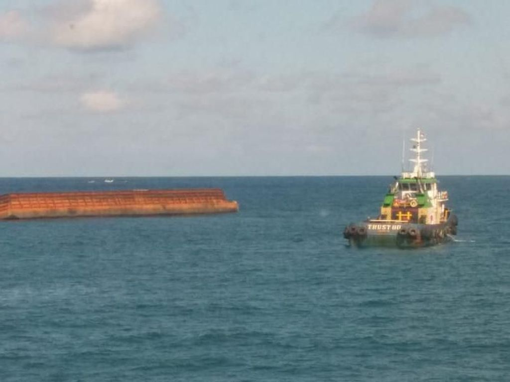 Kapal Tongkang Tenggelam di Perairan Babel, Kemenhub Terbitkan Notice