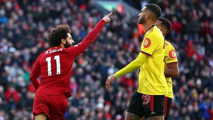 Mohamed Salah telah melewati torehan gol Luis Suarez di Liverpool. (Foto: Clive Brunskill / Getty Images)