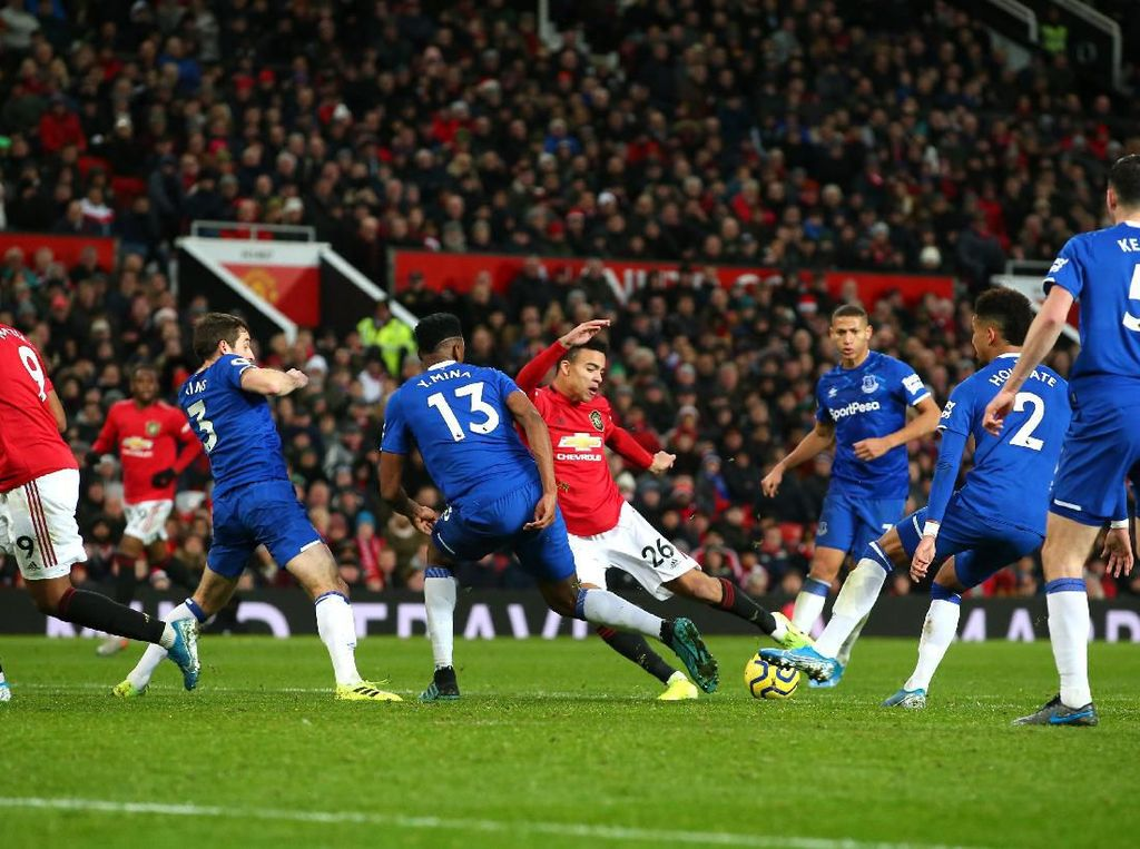 Man United Vs Everton Tuntas 1-1