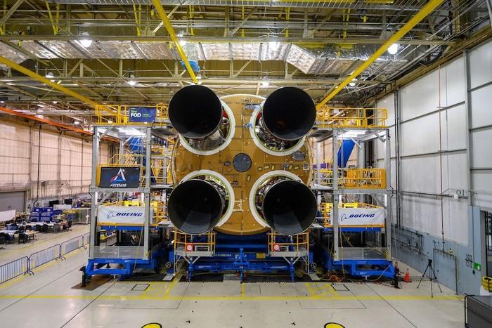 Perakitan Space Launch System. Foto: NASA