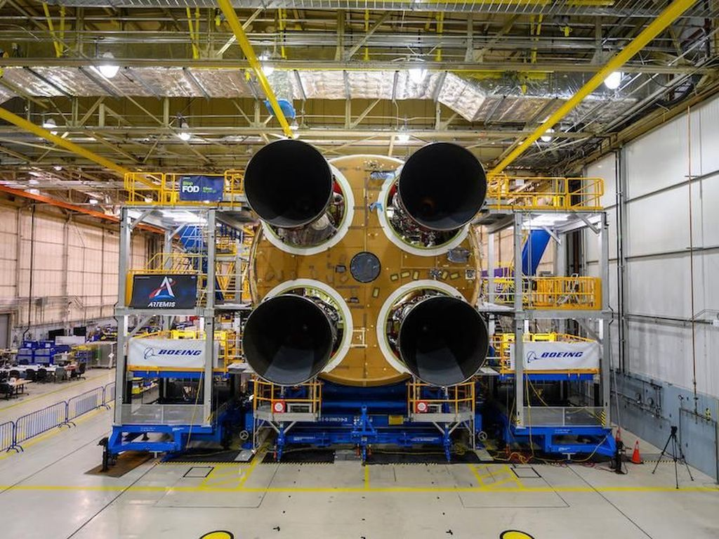 NASA Pamer Roket Terkuat untuk Bawa Manusia ke Bulan