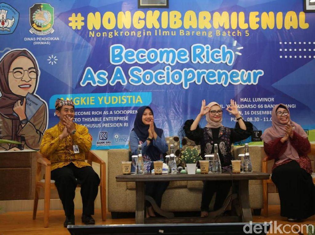 Stafsus Jokowi, Angkie Yudistia, Ajak Milenial Kembangkan Sociopreneur