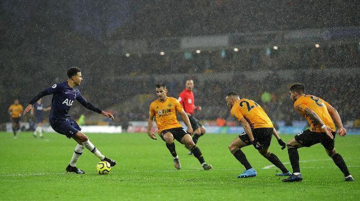 Tottenham Hotspur menang tipis dan dramatis atas Wolverhampton Wanderers. (Foto: Richard Heathcote/Getty Images)