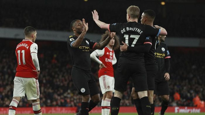 Kevin De Bruyne dua gol, Man City bantai Arsenal 3-0 di Emirates Stadium (Ian Walton/AP Photo)