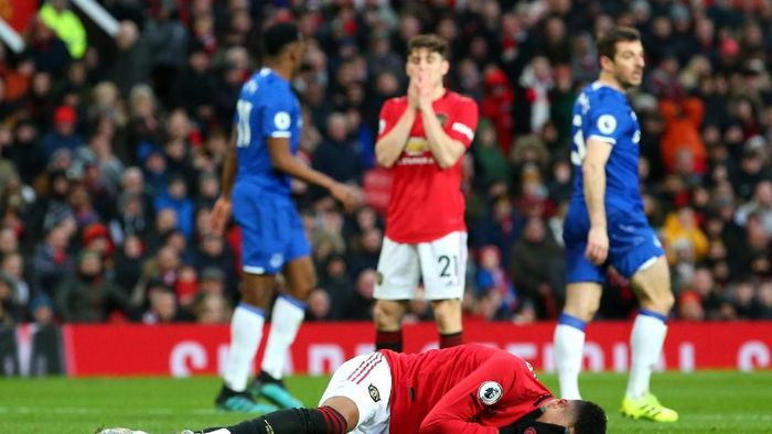 Lengah lima menit, Manchester United pun gagal mengalahkan Everton (Alex Livesey/Getty Images)