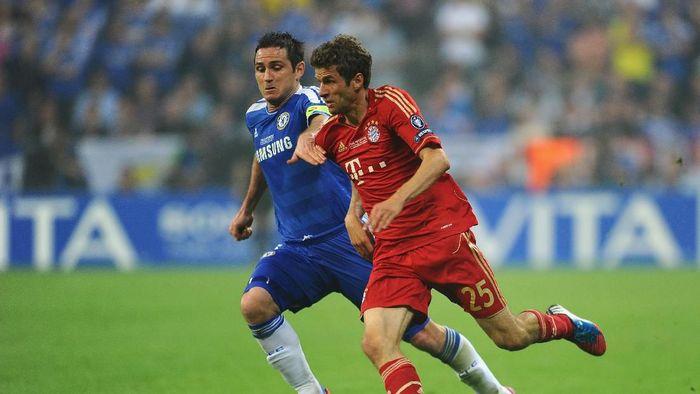 Frank Lampard membantu Chelsea mengalahkan Bayern Munich di final Liga Champions 2012. (Foto: Mike Hewitt / Getty Images)