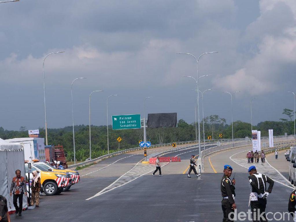Video Jokowi Resmikan Tol Pertama di Ibu Kota Baru