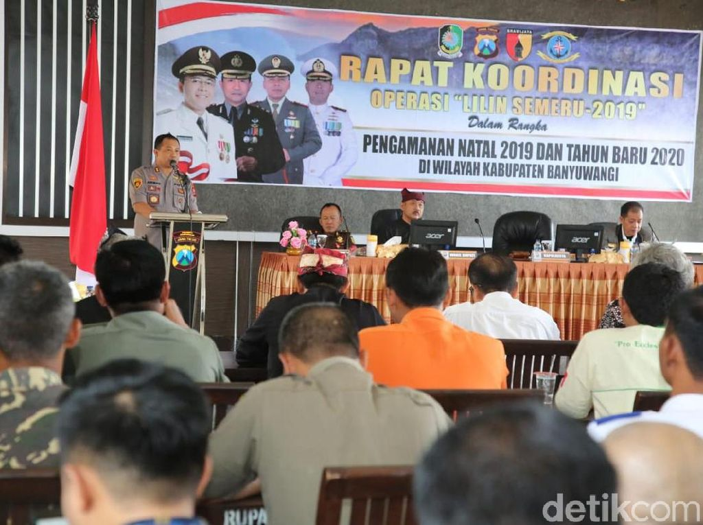 Jelang Nataru 2020 Polisi Banyuwangi Gelar Rakor Operasi Lilin Semeru