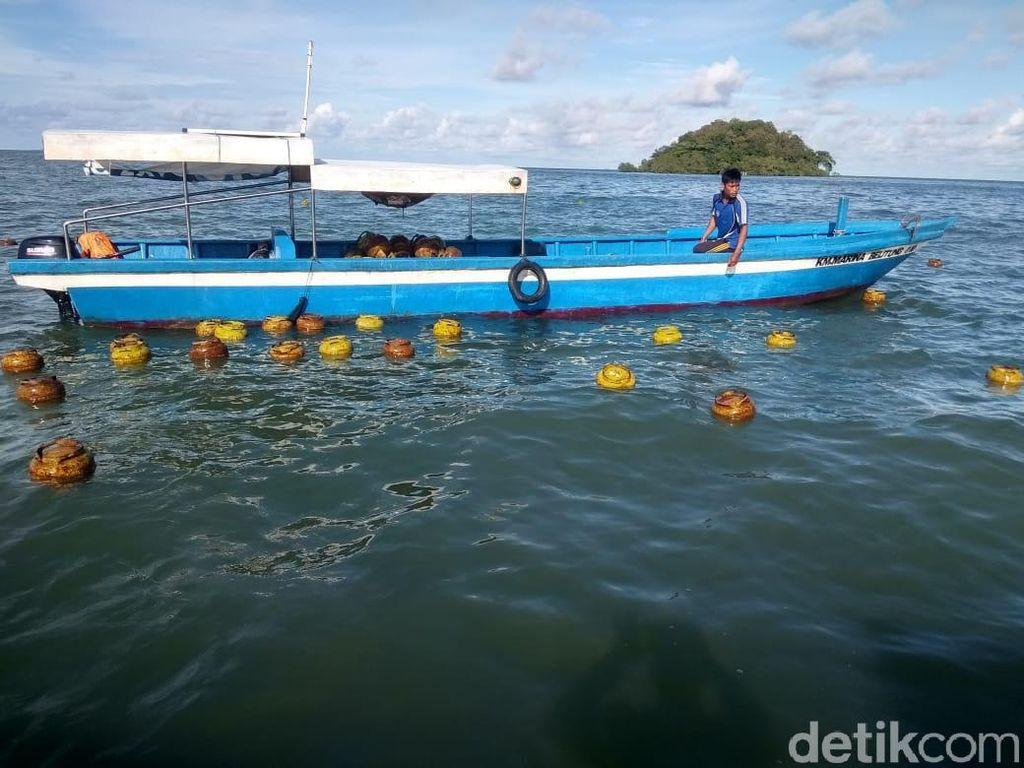 Kapal Angkut Dihantam Ombak, Ribuan Tabung Gas 3 Kg Mengapung di Lautan Babel