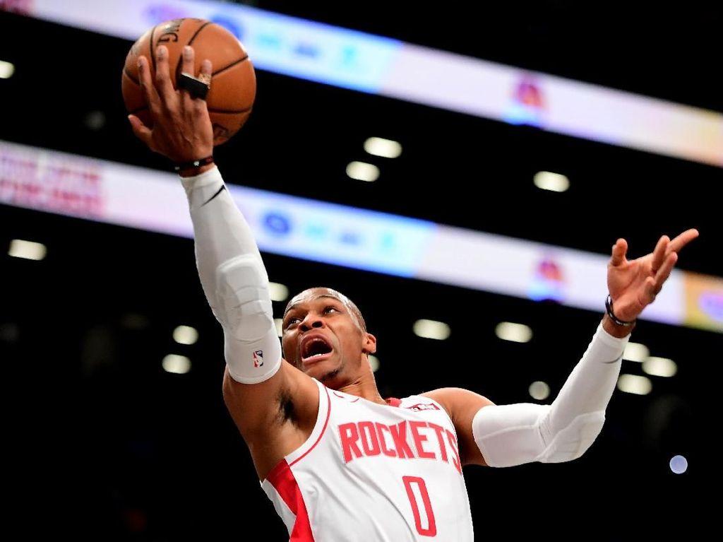 Harden-Westbrook Bantu Rockets Hempaskan Spurs