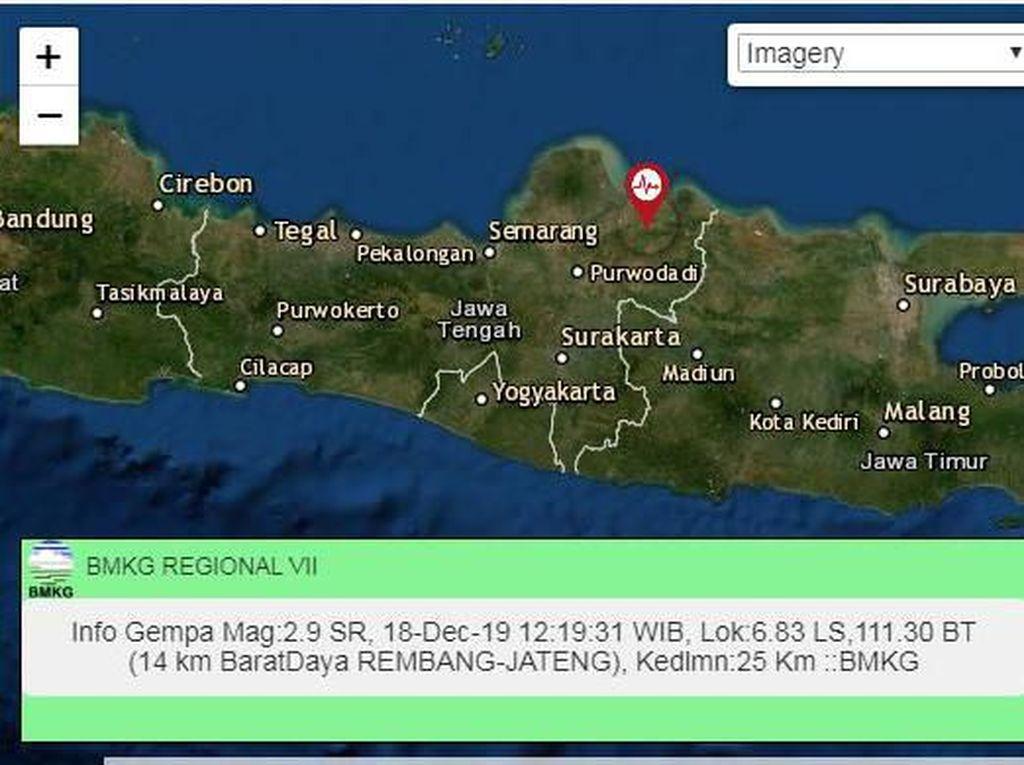 Gempa Darat M 2,9 Terjadi di Rembang